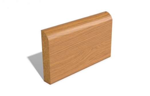 Bullnosed SAM1455 Wrapped MDF Skirting