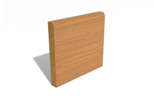 Chamfered SAM1903 Wrapped MDF Skirting