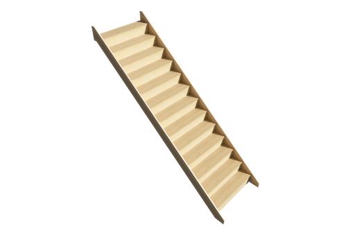 Straight flight staircase